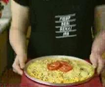 Pizza crocante de milho