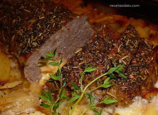 Falso Lombo, rocambole com carne moída