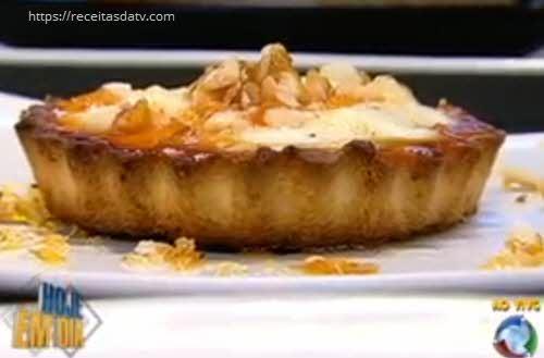 Torta crocante com amendoim