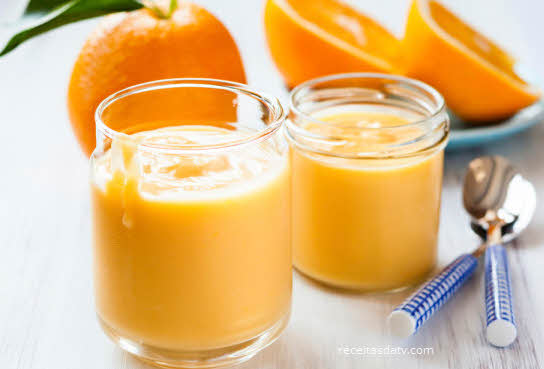 receitas da TV de mousse de laranja