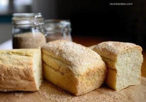 recietas da TV de pães, pão branco