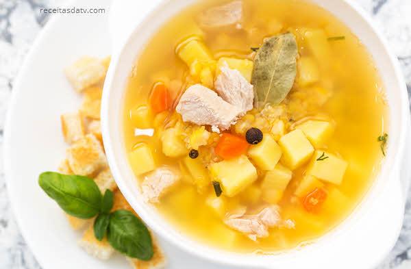 Receitas da tv sopa com batata e cenoura