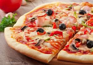 Receitas da TV pizza de presunto, queijo