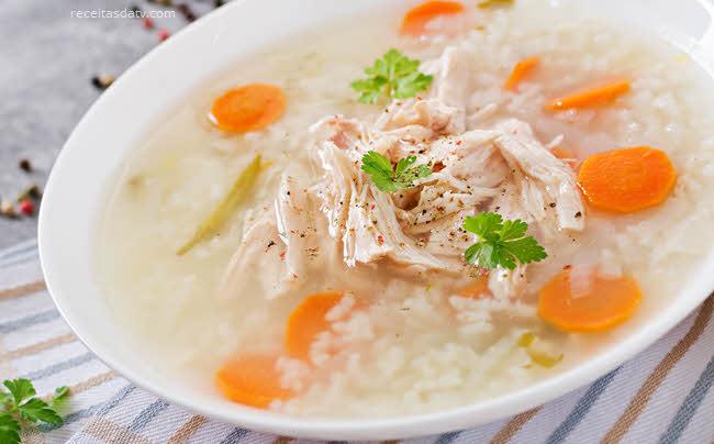 Canja de galinha, receitas da tv