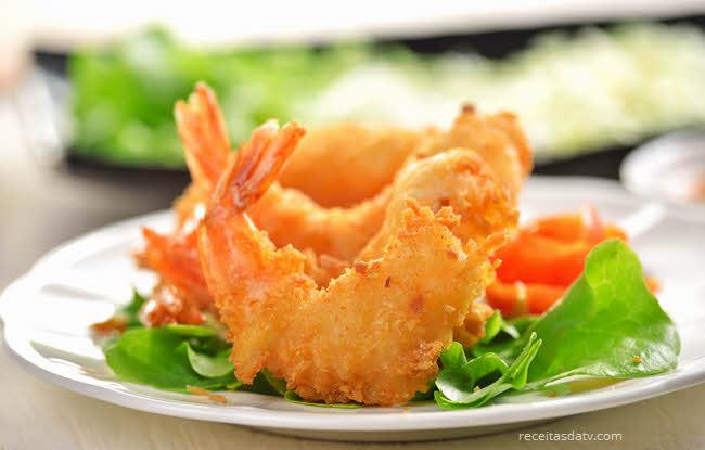 Receitas da TV de camarão empanado