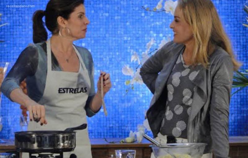 Salada de muçarela e massa com salmão alho-poró Debora Bloch
