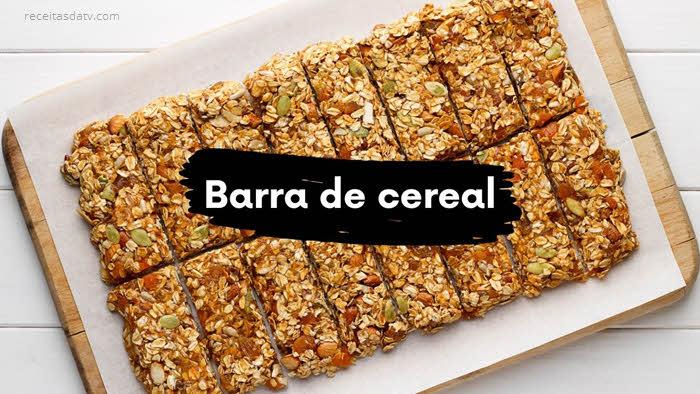 Passo a passo para fazer a barra de cereal