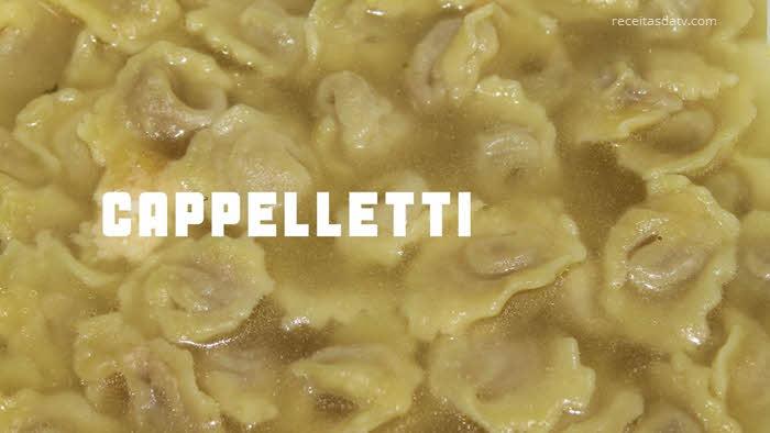 receitas da tv com Capeletti