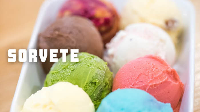 Receitas da TV de sorvetes