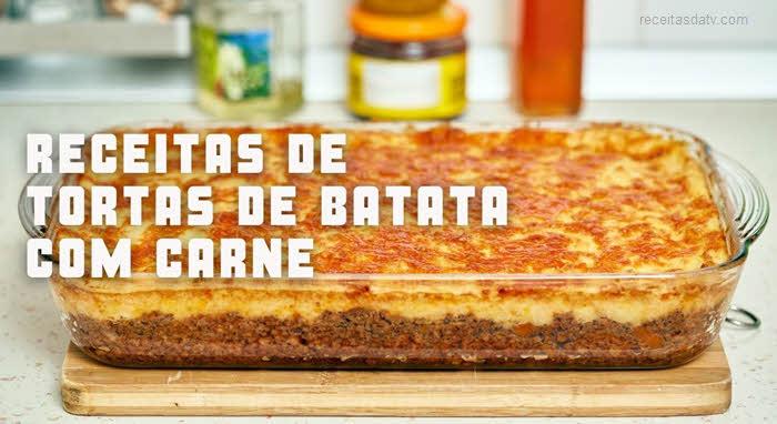 Torta de batata com carne