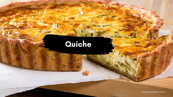 Receitas da TV quiche